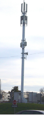 Rogers tower at the corner of Allen Road and Transit Road