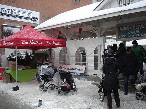 Stroller mob parking at todays Winter carnival :-)