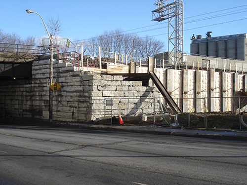 Keele Street historical subway wall and  The Village by High Park bond