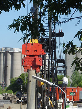 reduced noise pollution from vibratory pile driving?