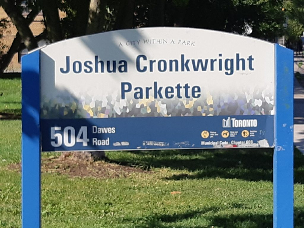 Joshua Cronkwright Parkette