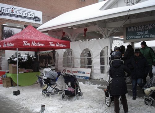 Ice rink and winter carnival organized by JFAC and then city councillor Bill Saundercook.